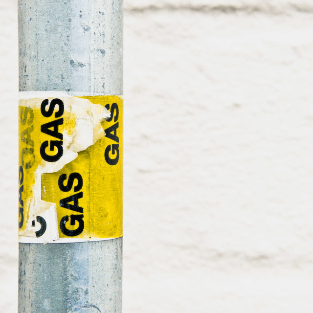 """Gas label"" stock image"