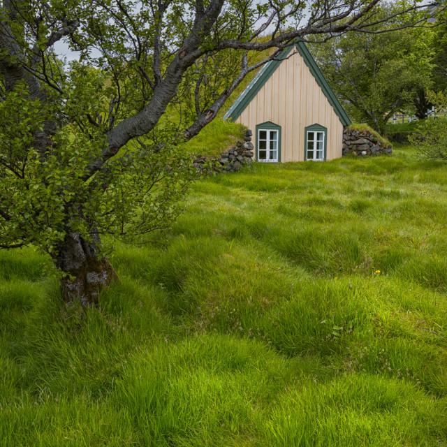 """the little hobbit church"" stock image"