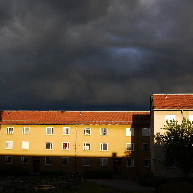 """""""There is a storm comming"""" stock image"""
