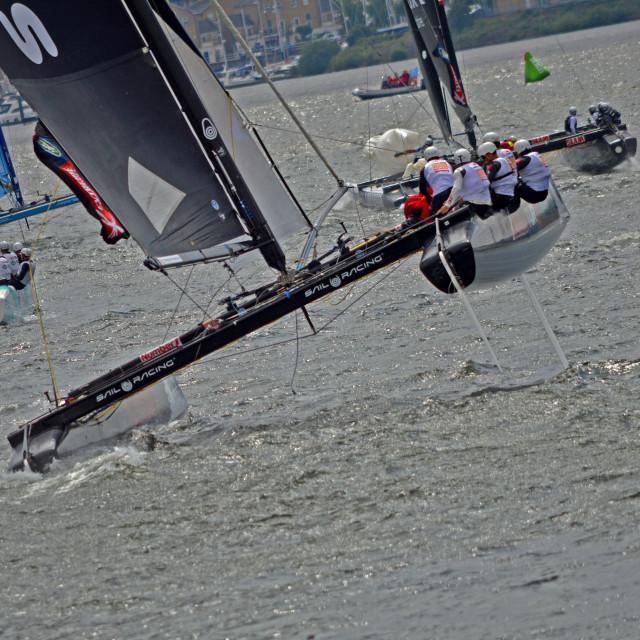 """""""Extreme Sailing"""" stock image"""