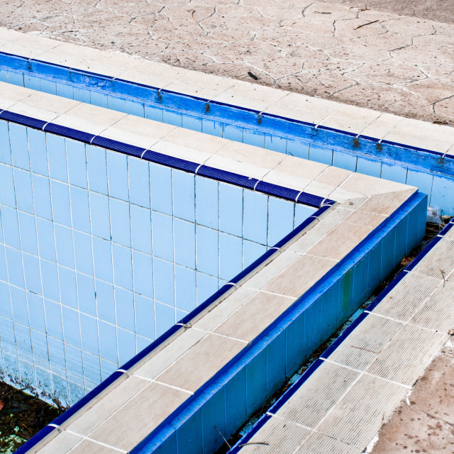 """Derelict swimming pool"" stock image"