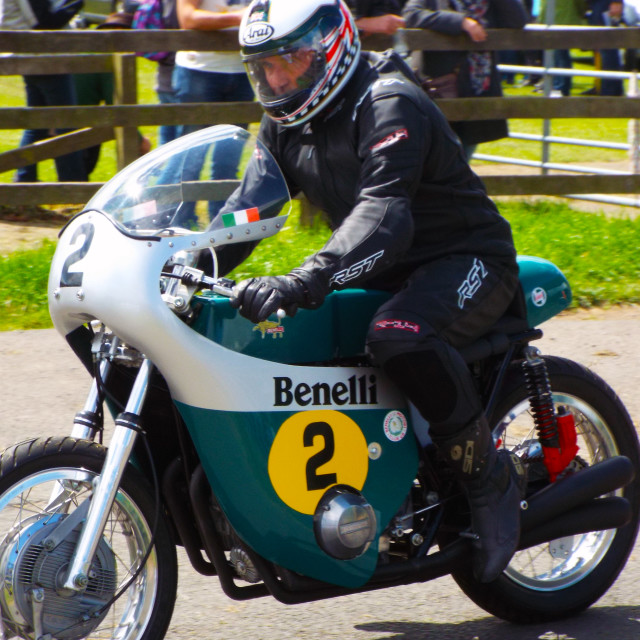"""Benelli Motorbike"" stock image"