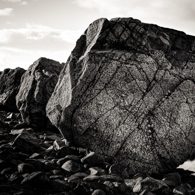 """""""Rocks in a row"""" stock image"""