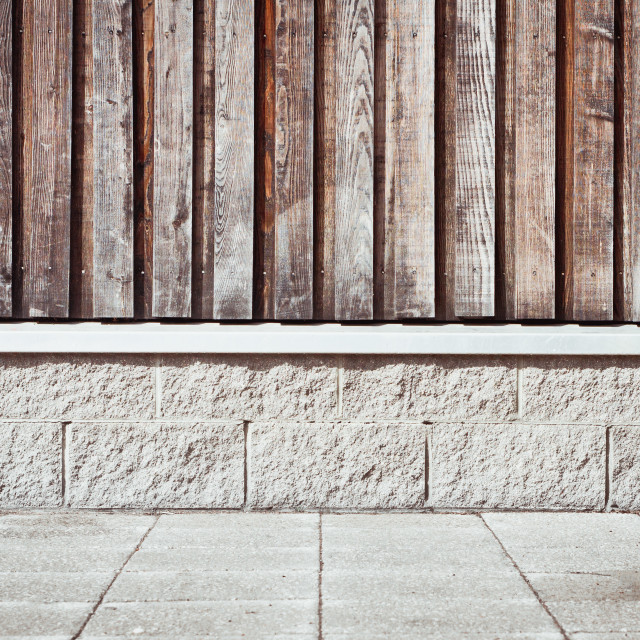 """Wooden wall"" stock image"