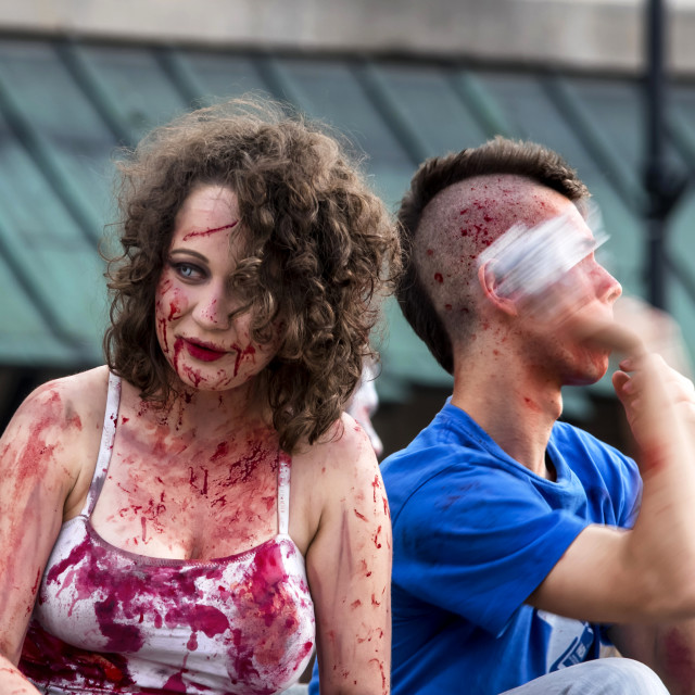"""""""Zombie Parade"""" stock image"""