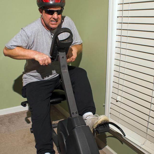 """Exercise Biker"" stock image"