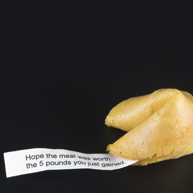 """Fortune Cookie - Weight Loss Concept"" stock image"
