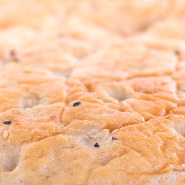 """""""Close-up of a ramadan pita"""" stock image"""