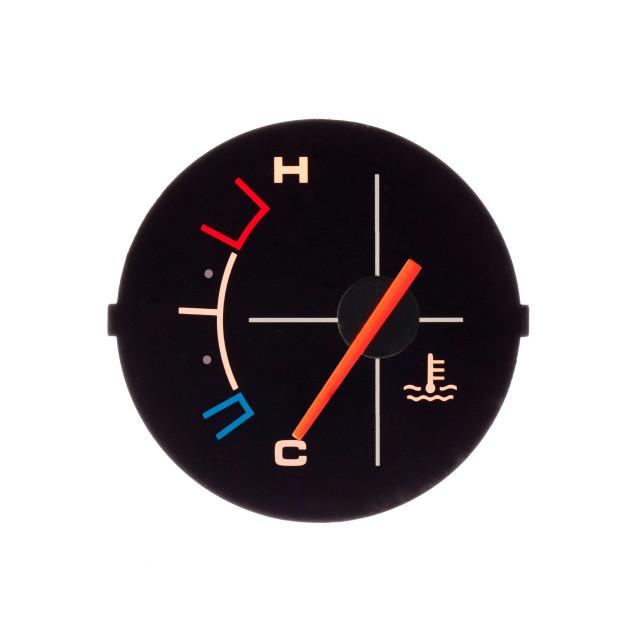 """Temperature guage of a motorbike"" stock image"