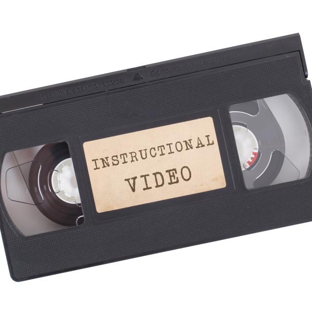 """Retro videotape isolated on white"" stock image"