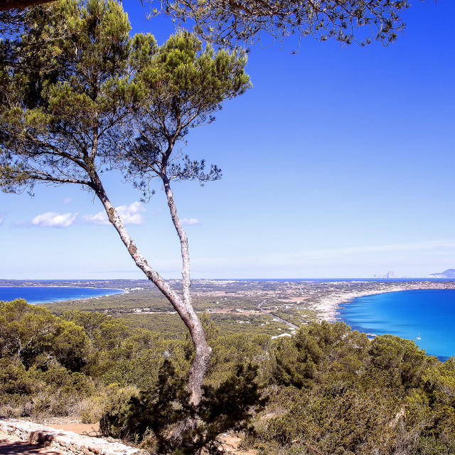 """Nice view on the coast of Formentera"" stock image"
