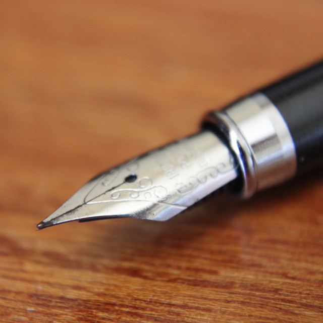 """Fountain pen nib"" stock image"