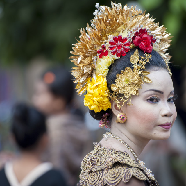 """The bride of Lombok"" stock image"