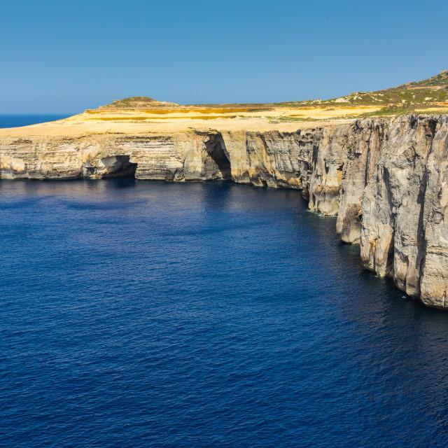 """""""Cliffs in Gozo"""" stock image"""