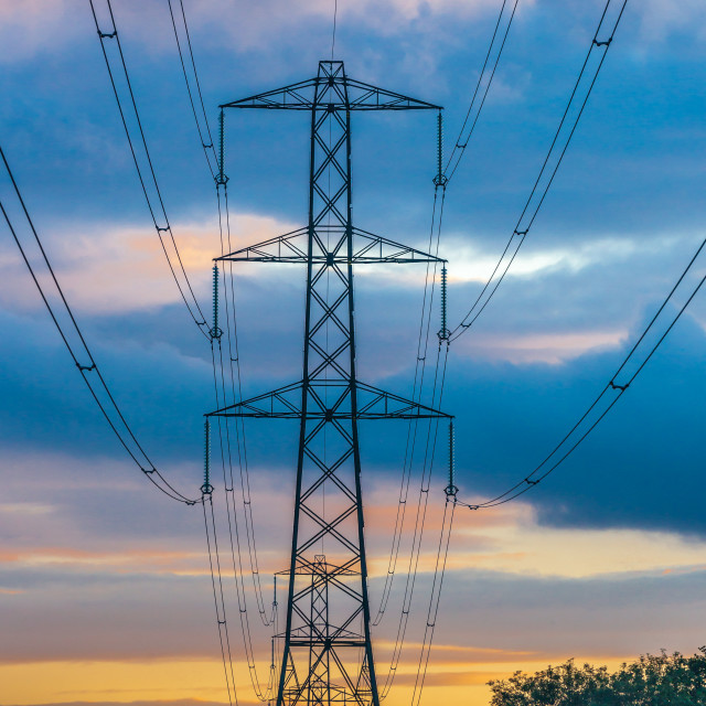 """A Sunset Pylon"" stock image"