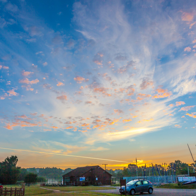 """Sunrise Over The Clubhouse"" stock image"