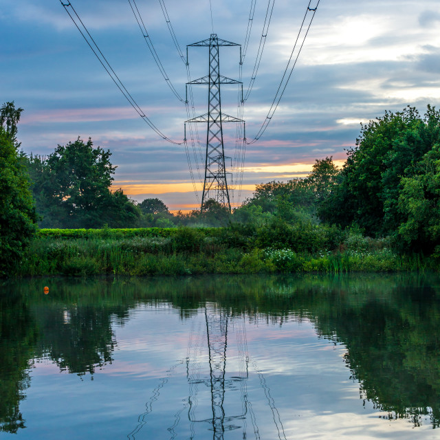 """Pylon Reflections"" stock image"