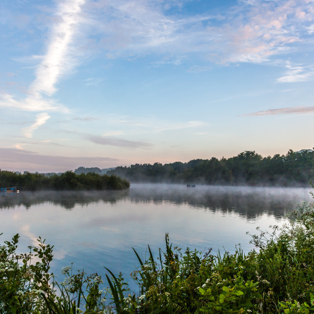 """Mists on the Water"" stock image"