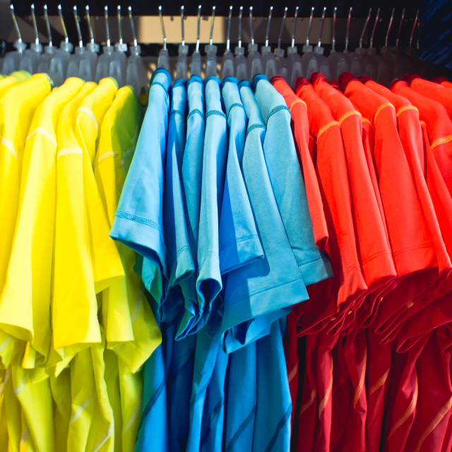 """T shirts"" stock image"
