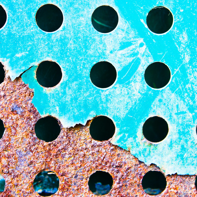 """Blue rusty metal"" stock image"