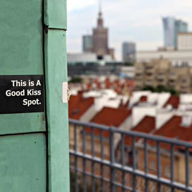 """A good kiss spot"" stock image"