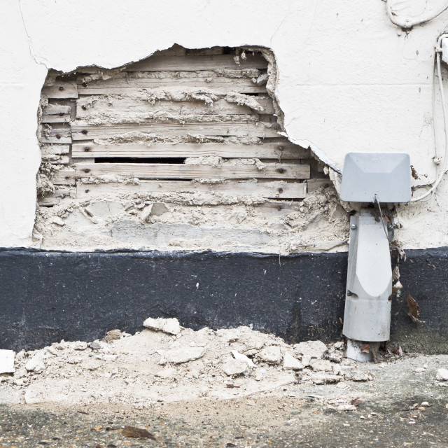 """Damaged wall"" stock image"