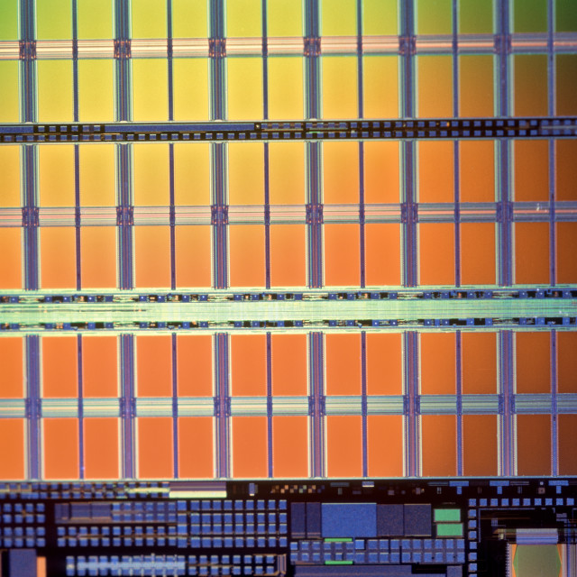 """Semi-Conductor Waffer."" stock image"