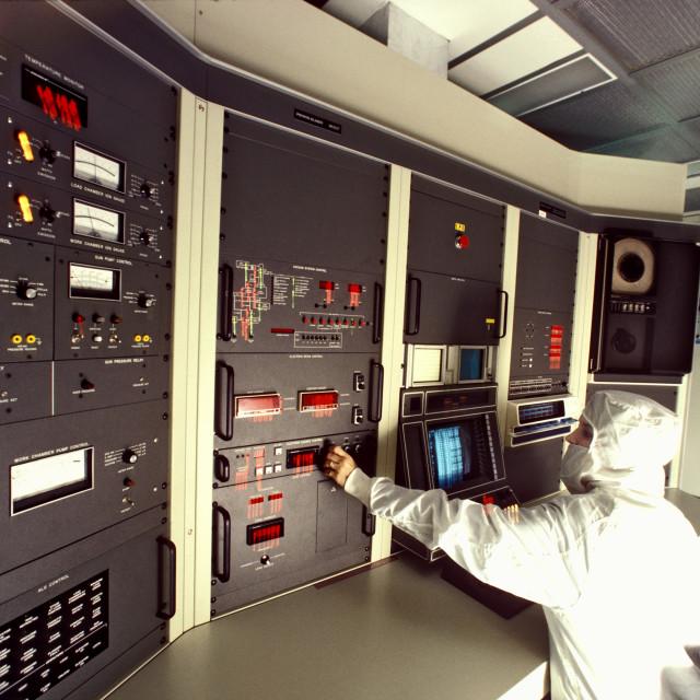 """Semi-Conductor Cleanroom"" stock image"