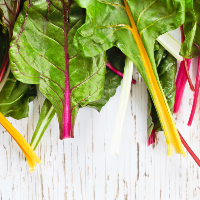 """Rainbow chard"" stock image"