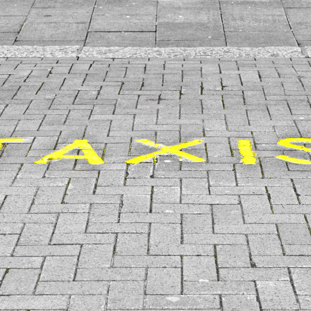 """Taxi parking"" stock image"