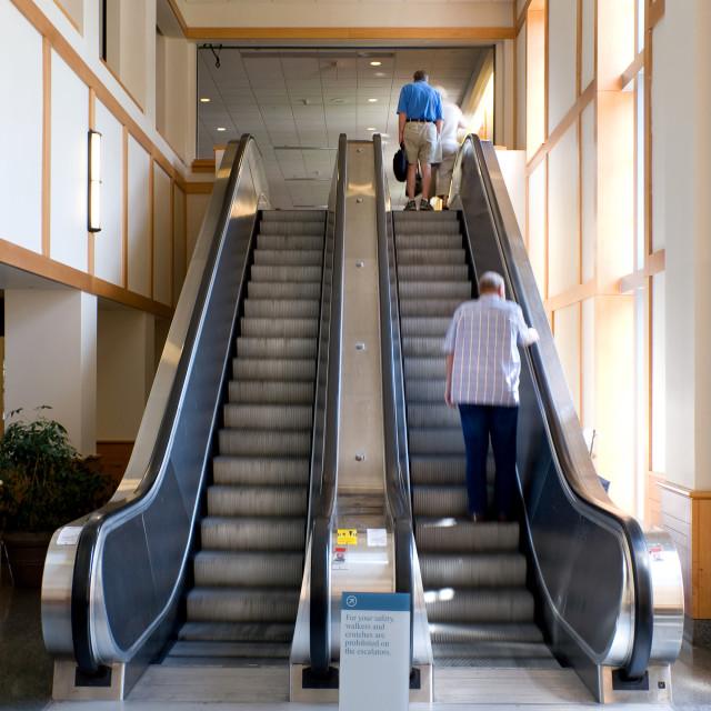 """Escalator"" stock image"