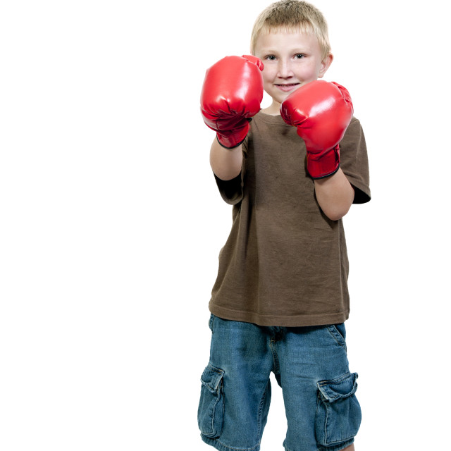 """Boy Boxer"" stock image"