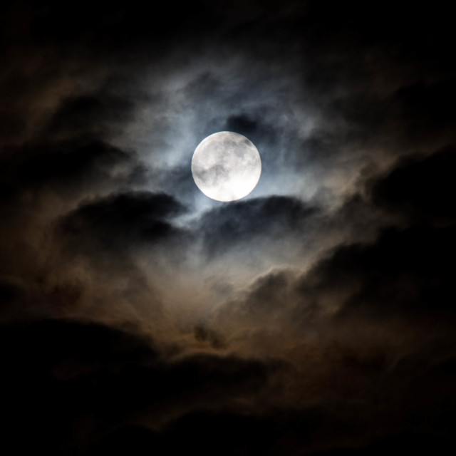 """""""Mysterious full moon"""" stock image"""