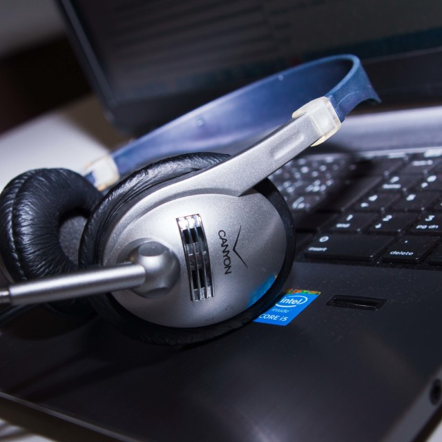 """""""Headphones"""" stock image"""