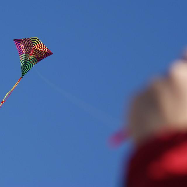 """Kite flying"" stock image"