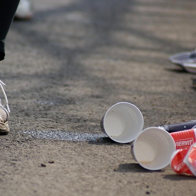 """Prague Marathon"" stock image"