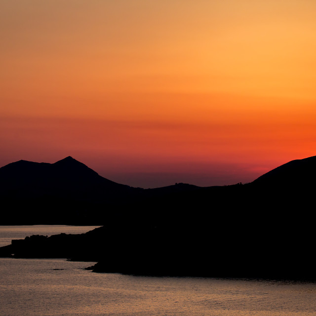 """""""The sun may set over Greece, but..."""" stock image"""