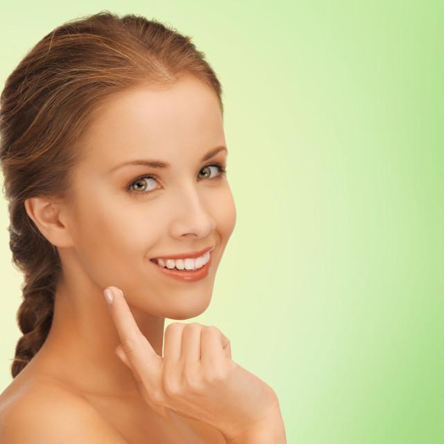 """beautiful young woman face"" stock image"