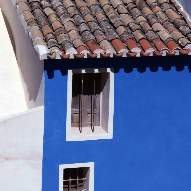 """""""Old Blue House"""" stock image"""