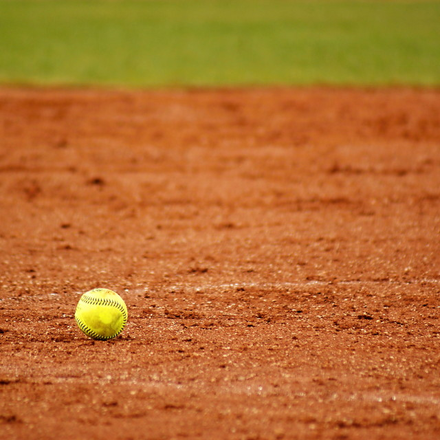 """Softball ball"" stock image"