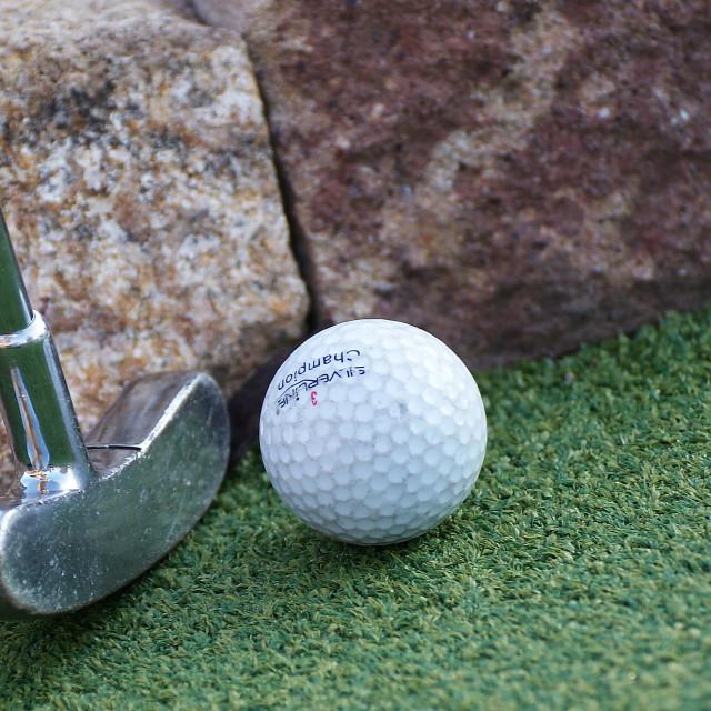 """Adventure golf"" stock image"
