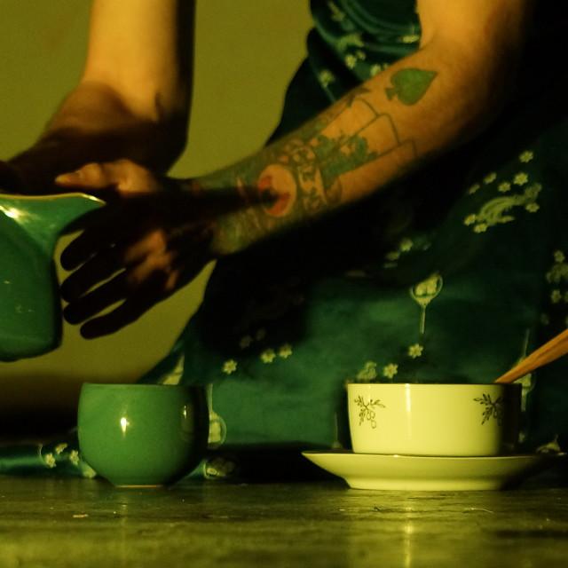 """""""Tea ritual"""" stock image"""