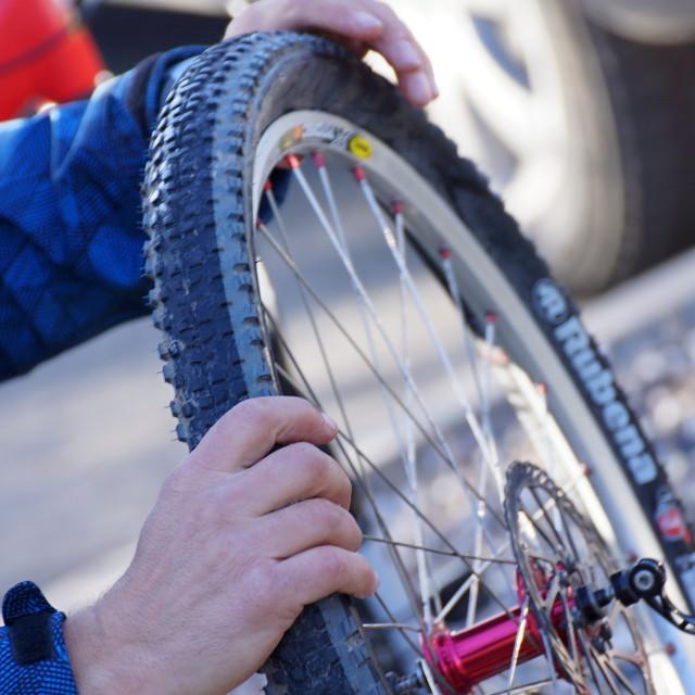 """""""Cycle race 2"""" stock image"""