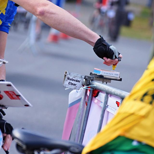 """""""Cycle race 9"""" stock image"""