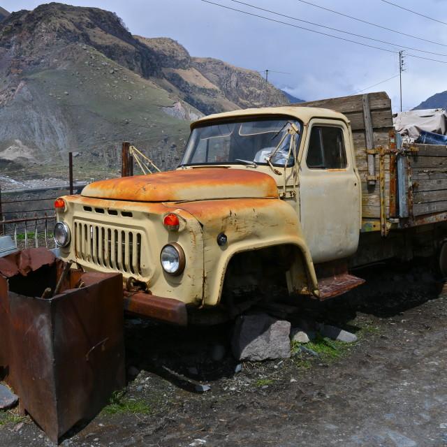 """""""Rust bucket"""" stock image"""