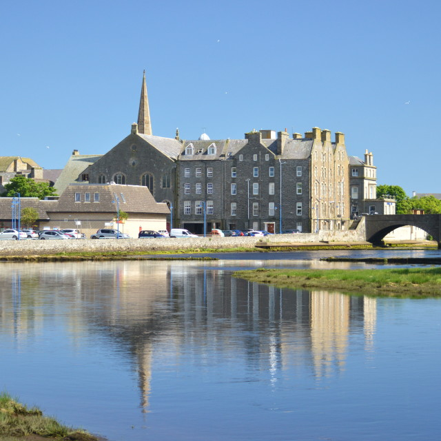 """Wick River. Scotland."" stock image"