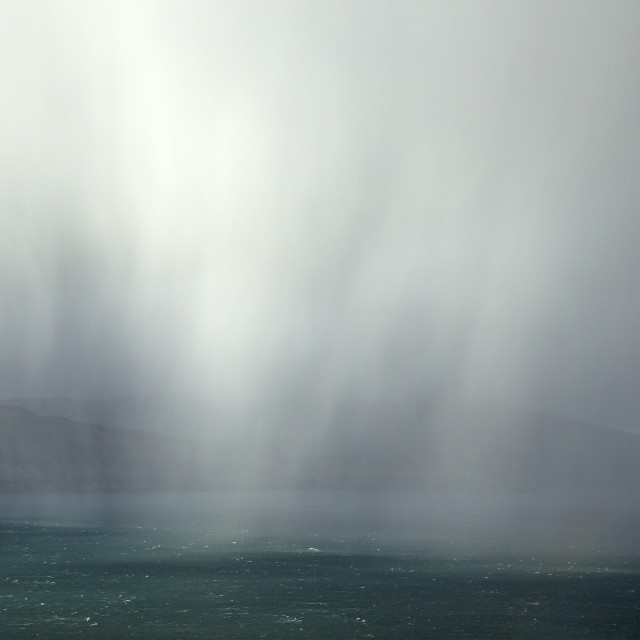 """Rain At Sea"" stock image"
