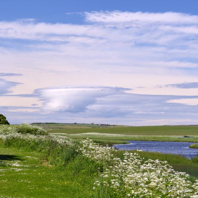 """Caithness Sky"" stock image"