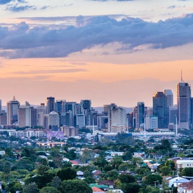 """Brisbane Skyline"" stock image"