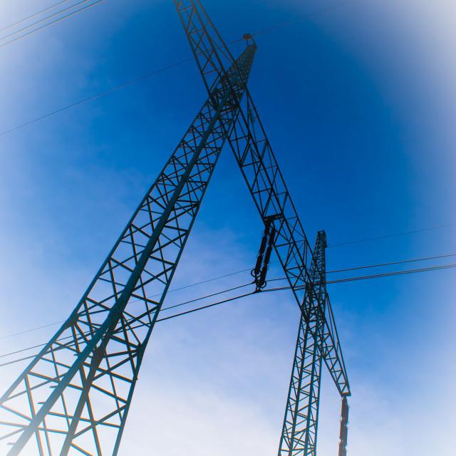 """Power line"" stock image"